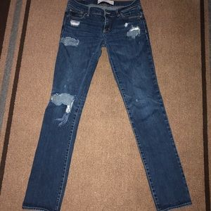 Abercrombie & Fitch distressed straight leg jeans